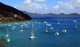 Porto das caraíbas, Ilhas Virgens britânicas fotos de stock royalty free