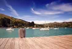 Porto de Akaroa Imagem de Stock Royalty Free