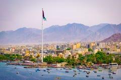 Porto de Aqaba, Jordânia imagem de stock royalty free