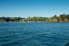 Porto de Auckland - baía ocidental Imagens de Stock Royalty Free