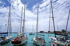 Porto de Avatiu - ilha de Rarotonga, cozinheiro Islands Foto de Stock