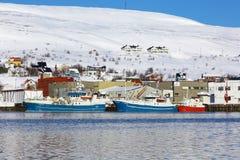 Porto de BÃ¥tsfjord, Noruega Fotografia de Stock Royalty Free