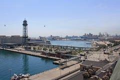 Porto de Barcelona Imagem de Stock Royalty Free