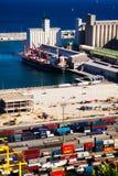 Porto de Barcelona - porto da logística Fotografia de Stock