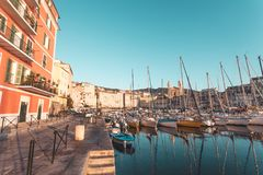 Porto de Bastia em Córsega, França fotos de stock royalty free