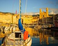 Porto de Bastia Vieux Fotografia de Stock