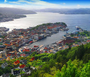 Porto de Bergen, Noruega imagens de stock
