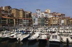 Porto de Bermeo, (Pais Vasco), país Basque Fotografia de Stock