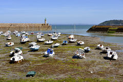 Porto de Binic em França Imagem de Stock