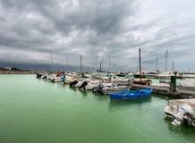 Porto de Bocca di Magra - La Spezia - Itália imagem de stock