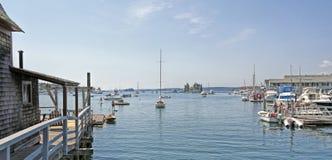 Porto de Boothbay, Maine Imagem de Stock