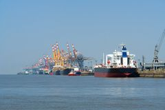 Porto de Bremerhaven Imagem de Stock Royalty Free