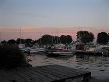 Porto de Brockville no por do sol foto de stock