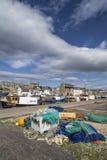 Porto de Burghead em Escócia fotos de stock