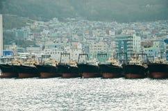 Porto de Busan, Busan, Coreia do Sul Imagens de Stock