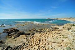 Porto de Caesarea Maritima Fotografia de Stock Royalty Free