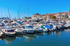 Porto de Cannes, dAzur da costa, França Foto de Stock Royalty Free