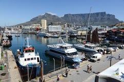 Porto de Cape Town e montanha da tabela Imagem de Stock Royalty Free