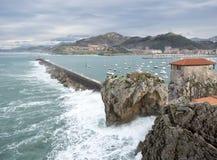 Porto de Castro Urdiales Fotos de Stock Royalty Free