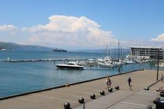 Porto de Chaffers e Clyde Quay Wharf Wellington NZ Fotografia de Stock