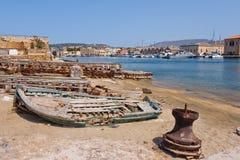 Porto de Chania. Crete, Greece imagens de stock royalty free