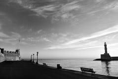 Porto de Chania na Creta Grécia Fotos de Stock