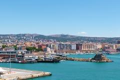 Porto de Civitavecchia fotos de stock