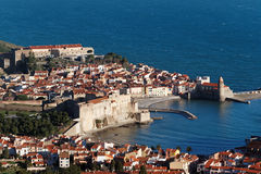 Porto de Collioure Fotos de Stock Royalty Free