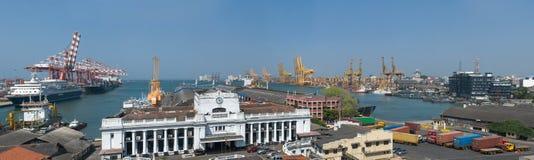 Porto de Colombo em Sri Lanka Foto de Stock Royalty Free