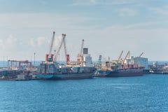 Porto de comércio de Toamasina Tamatave, Madagáscar Foto de Stock Royalty Free