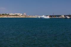 Porto de Constanta Tomis no Mar Negro Foto de Stock