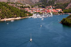 Porto de Croatia Foto de Stock Royalty Free