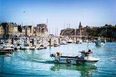 Porto de Dieppe em Normandy, França Fotografia de Stock Royalty Free