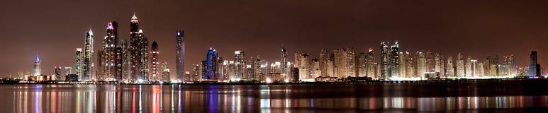 Porto de Dubai e JBR imagens de stock