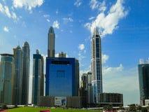 Porto de Dubai, uma área da atração turística com lojas, restaurantes e arranha-céus residenciais em Dubai, Emiratos Árabes Unido fotografia de stock