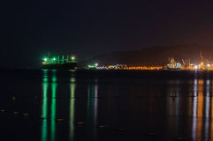 Porto de Eilat - na noite Fotografia de Stock Royalty Free