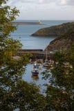 Porto de Fishguard, Gales ocidental, Reino Unido fotos de stock royalty free