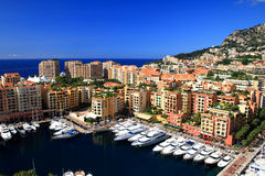 Porto de Fontvieille, Monaco Foto de Stock Royalty Free