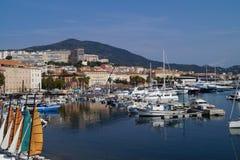 Porto de França - de Córsega - de Ajácio imagens de stock
