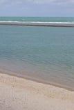 Porto de Galinhas strand Arkivfoton