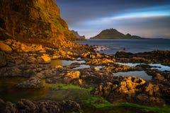 Porto de Gasadalur Imagem de Stock Royalty Free