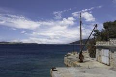Porto de Goli Otok foto de stock royalty free