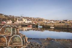 Porto de Gourdon em Escócia fotografia de stock