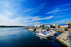 Porto de Hakodate em Hakodate, Hokkaido, Japão Fotos de Stock Royalty Free