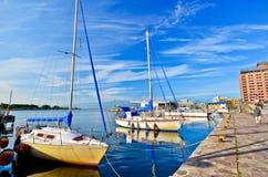 Porto de Hakodate em Hakodate, Hokkaido, Japão Fotografia de Stock Royalty Free