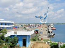 Porto de Hambantota em Sri Lanka foto de stock royalty free
