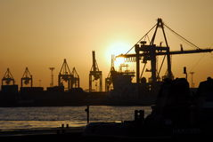 Porto de Hamburgo imagens de stock