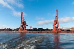 Porto de Hamburgo em Alemanha imagens de stock royalty free