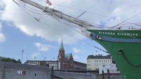 Porto de Hamburgo. Lapso de tempo. vídeos de arquivo