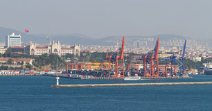 Porto de Haydarpasa, Istambul Fotografia de Stock Royalty Free